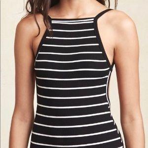 Reformation Black & White Striped Bodysuit